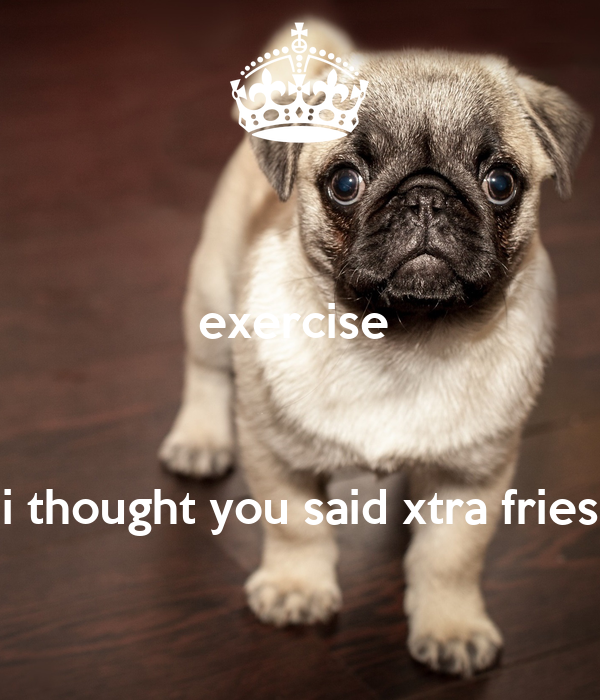 exercise     i thought you said xtra fries