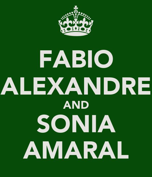 FABIO ALEXANDRE AND SONIA AMARAL