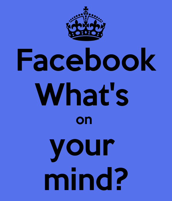 Facebook What's  on  your  mind?