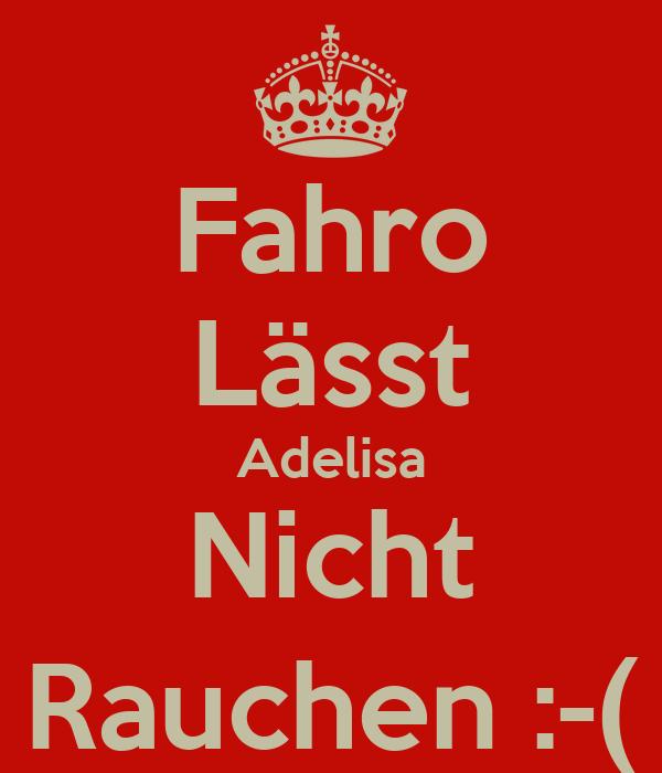 Fahro Lässt Adelisa Nicht Rauchen :-(