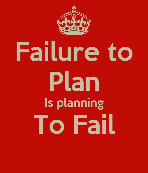 organisations that fail to plan are planning to fail Failing to plan is planning to fail written by nilesh raje there is a popular adage often attributed to benjamin franklin, the father of time management,  failing to plan is planning to fail , the quote may sound like music to your ears but planning for business analysis work is a key area which tries to zero in on the importance of planning.