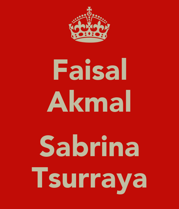 Faisal Akmal  Sabrina Tsurraya