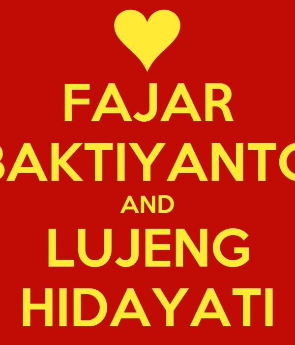 FAJAR BAKTIYANTO AND LUJENG HIDAYATI