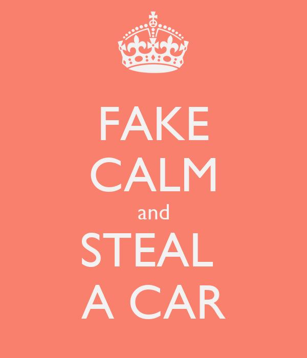 FAKE CALM and STEAL  A CAR