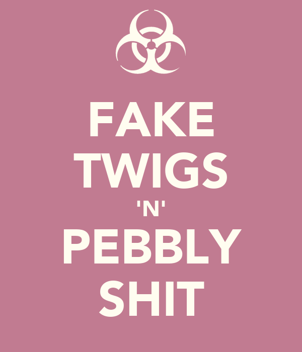 FAKE TWIGS 'N' PEBBLY SHIT