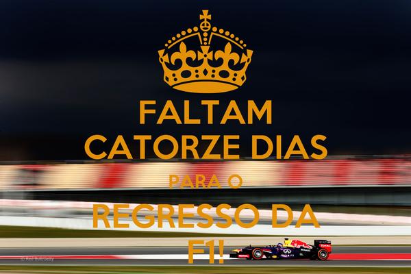 FALTAM CATORZE DIAS PARA O REGRESSO DA F1!