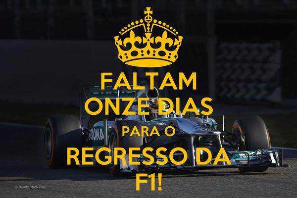 FALTAM ONZE DIAS PARA O REGRESSO DA F1!