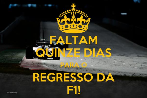 FALTAM QUINZE DIAS PARA O REGRESSO DA F1!