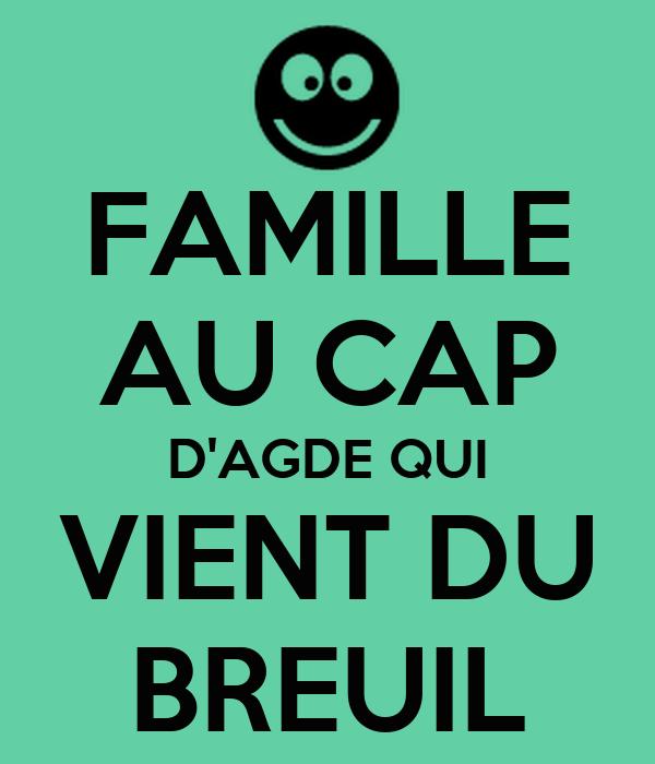 FAMILLE AU CAP D'AGDE QUI VIENT DU BREUIL