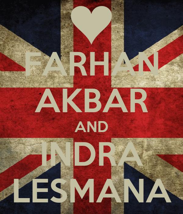 FARHAN AKBAR AND INDRA LESMANA