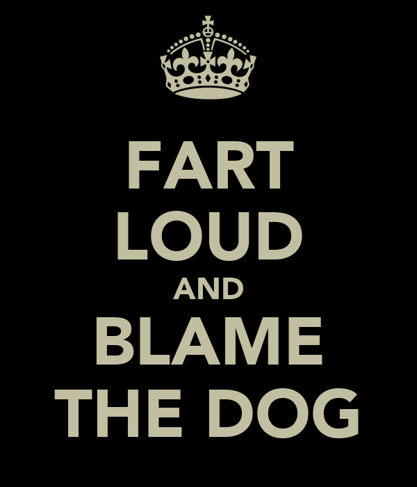 FART LOUD AND BLAME THE DOG