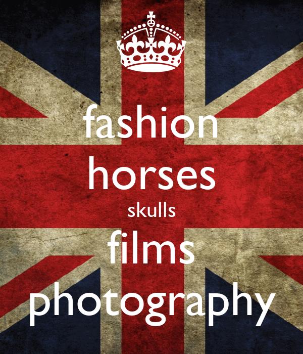 fashion horses skulls films photography