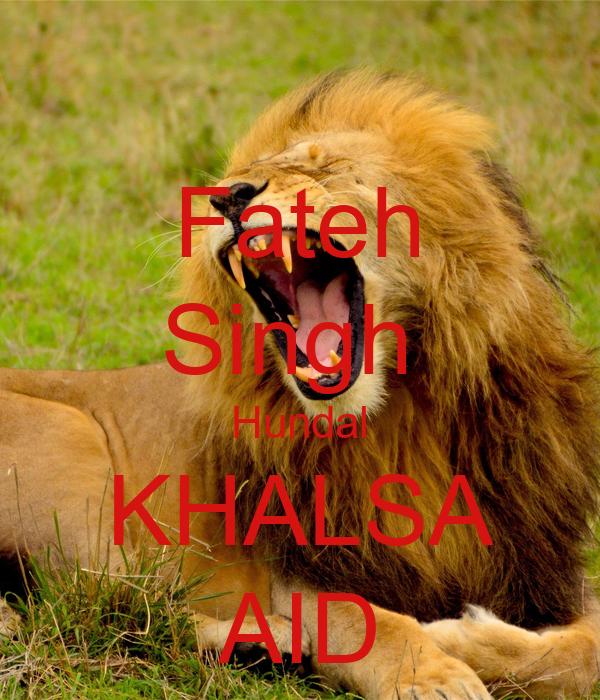 Fateh Singh  Hundal KHALSA AID