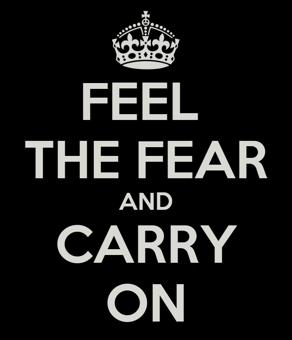 FEEL  THE FEAR AND CARRY ON