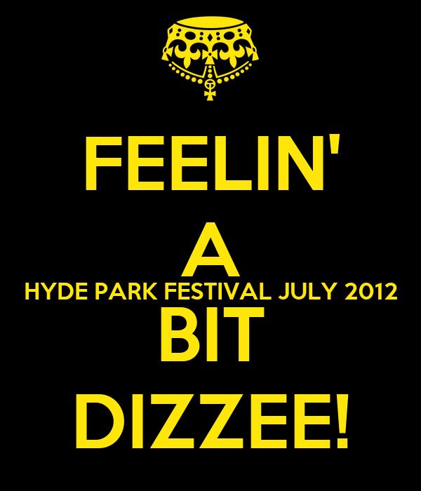 FEELIN' A HYDE PARK FESTIVAL JULY 2012 BIT DIZZEE!
