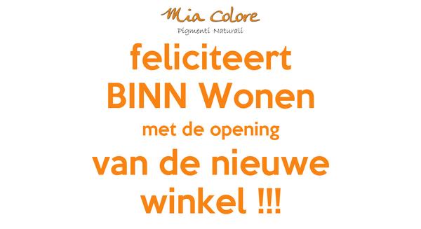 feliciteert BINN Wonen met de opening van de nieuwe winkel !!!