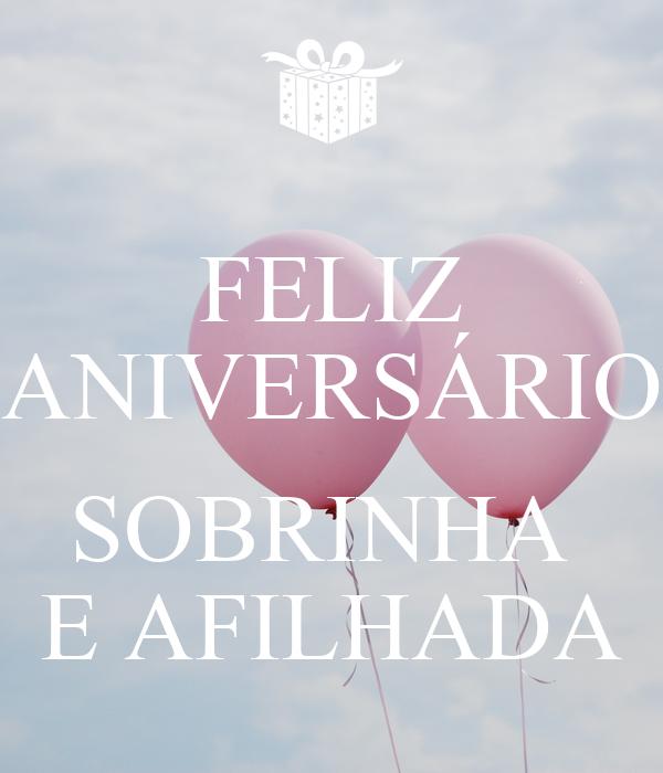Amado FELIZ ANIVERSÁRIO SOBRINHA E AFILHADA Poster | gLÓRIA | Keep Calm  RH16