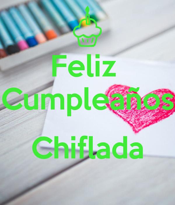Feliz  Cumpleaños  Chiflada