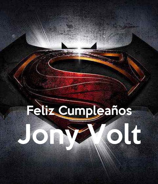 Feliz Cumpleaños Jony Volt