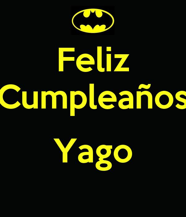 Feliz Cumpleaños  Yago