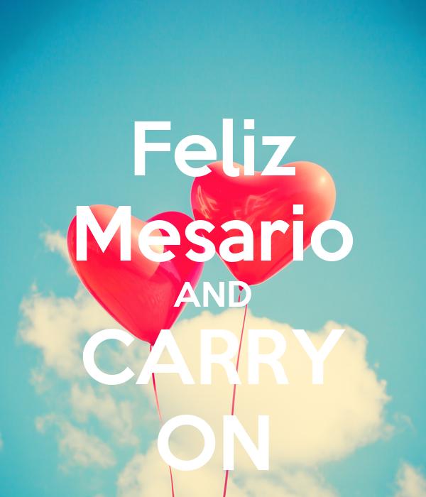 Feliz Mesario AND CARRY ON