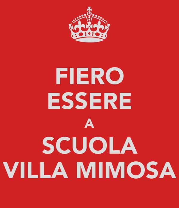 FIERO ESSERE A SCUOLA VILLA MIMOSA