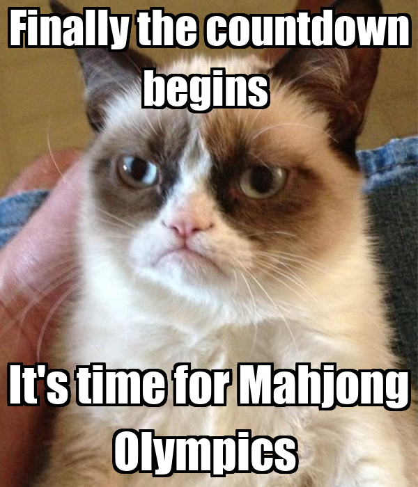 Finally the countdown begins  It's time for Mahjong Olympics