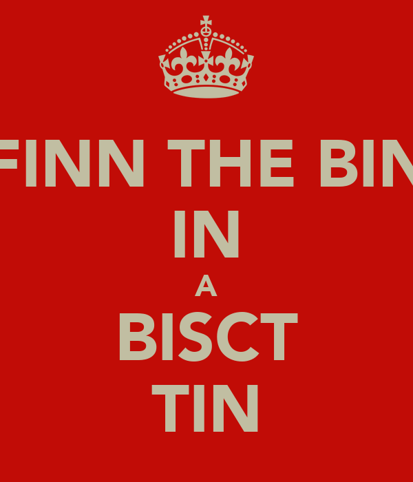 FINN THE BIN IN A BISCT TIN