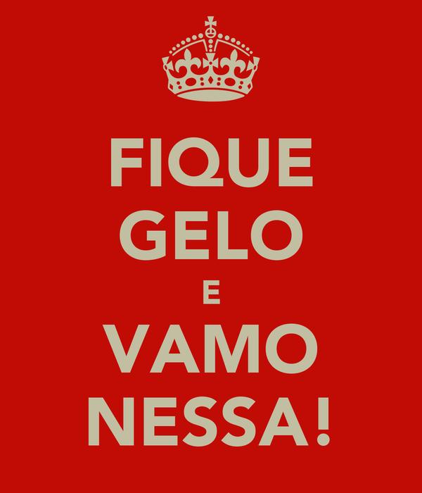 FIQUE GELO E VAMO NESSA!
