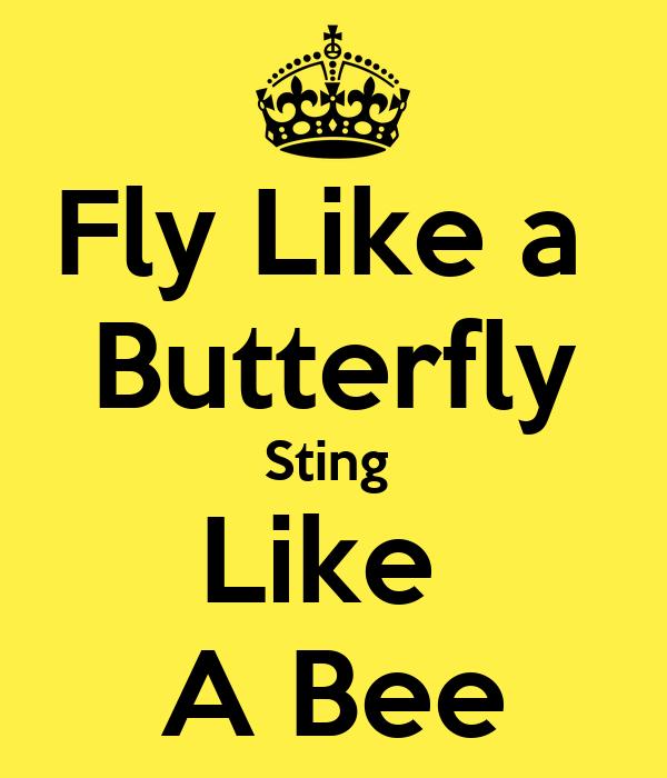 Fly Like a  Butterfly Sting  Like  A Bee