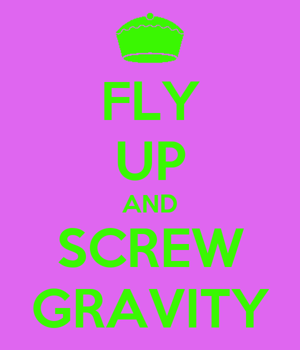 FLY UP AND SCREW GRAVITY