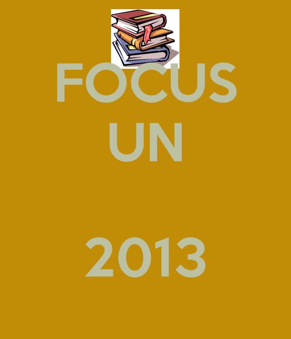 FOCUS UN  2013
