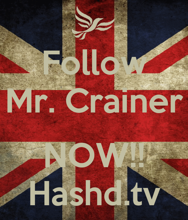 Follow Mr. Crainer  NOW!! Hashd.tv