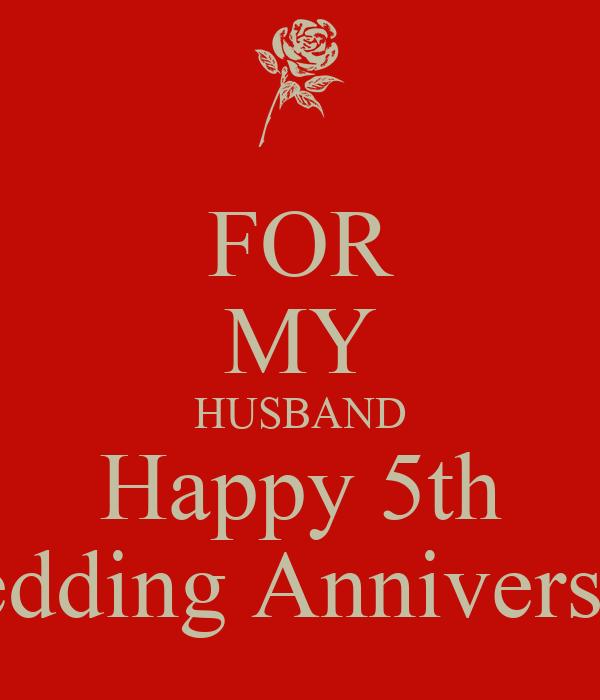 FOR MY HUSBAND Happy 5th Wedding Anniversary Poster | RAMONA | Keep ...