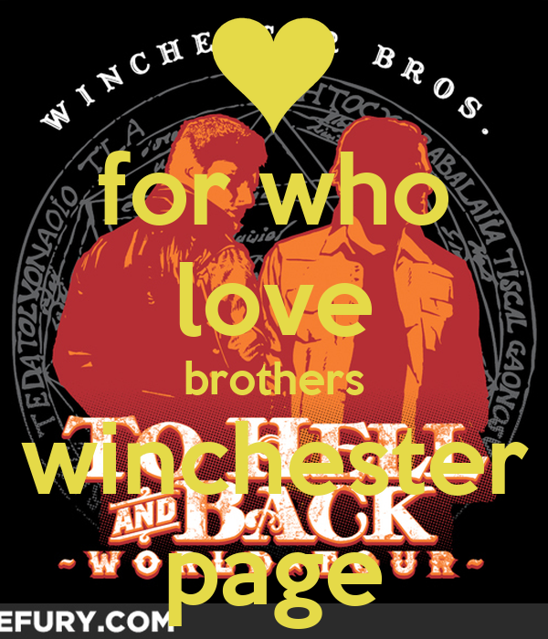 for who love brothers winchester page