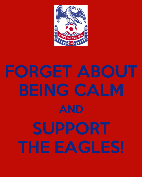 FORGET ABOUT BEING CALM AND SUPPORT THE EAGLES!