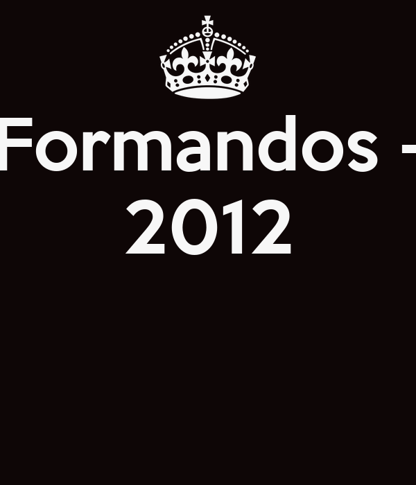 Formandos - 2012