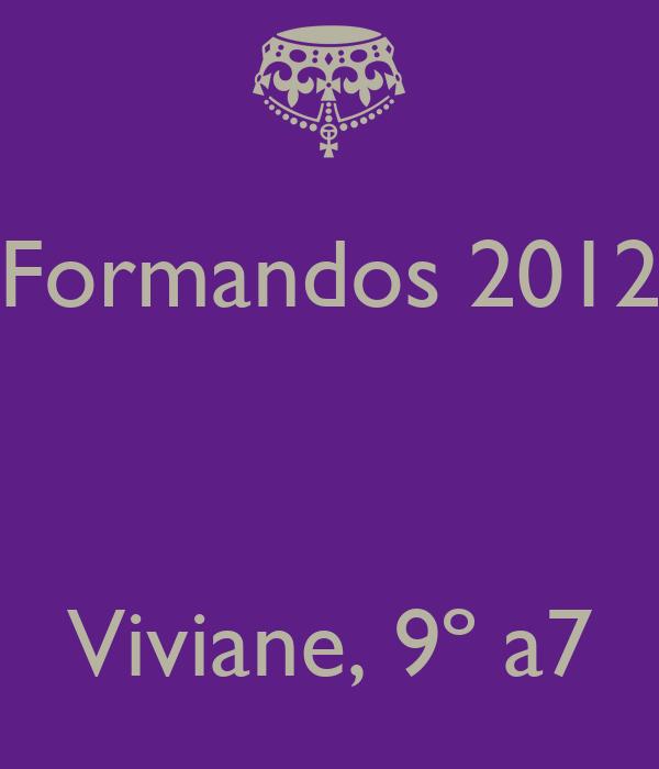 Formandos 2012    Viviane, 9º a7