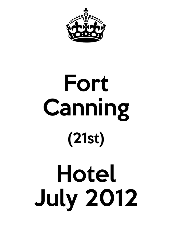 Fort Canning (21st) Hotel July 2012