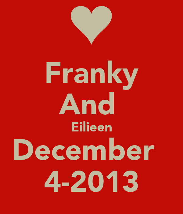 Franky And  Eilieen December   4-2013