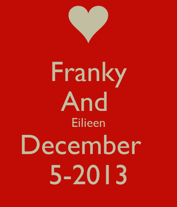 Franky And  Eilieen December   5-2013