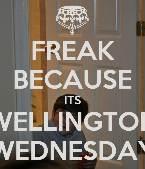 FREAK BECAUSE ITS WELLINGTON WEDNESDAY