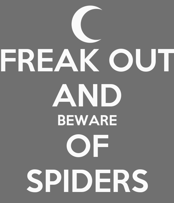 FREAK OUT AND BEWARE OF SPIDERS