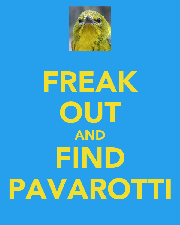 FREAK OUT AND FIND PAVAROTTI