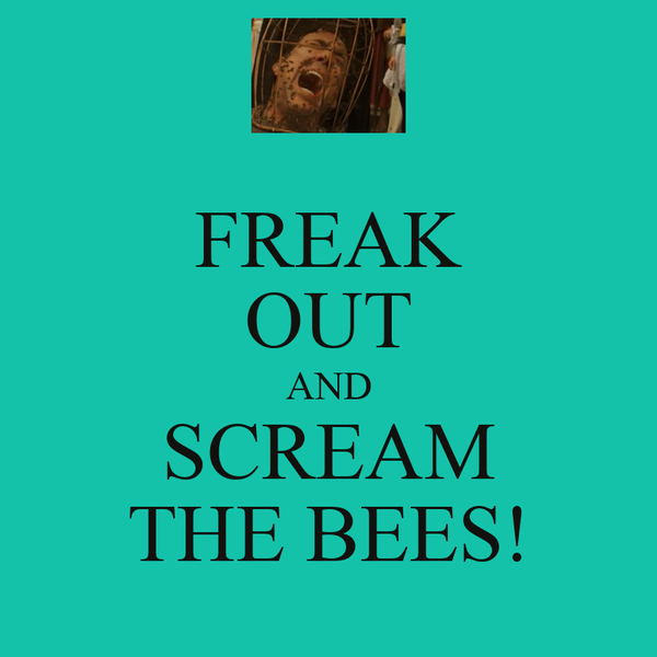 FREAK OUT AND SCREAM THE BEES!