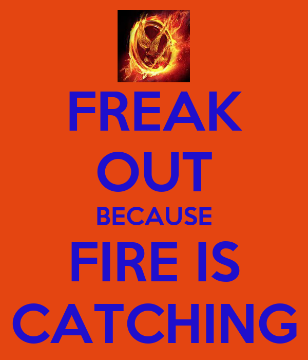 FREAK OUT BECAUSE FIRE IS CATCHING