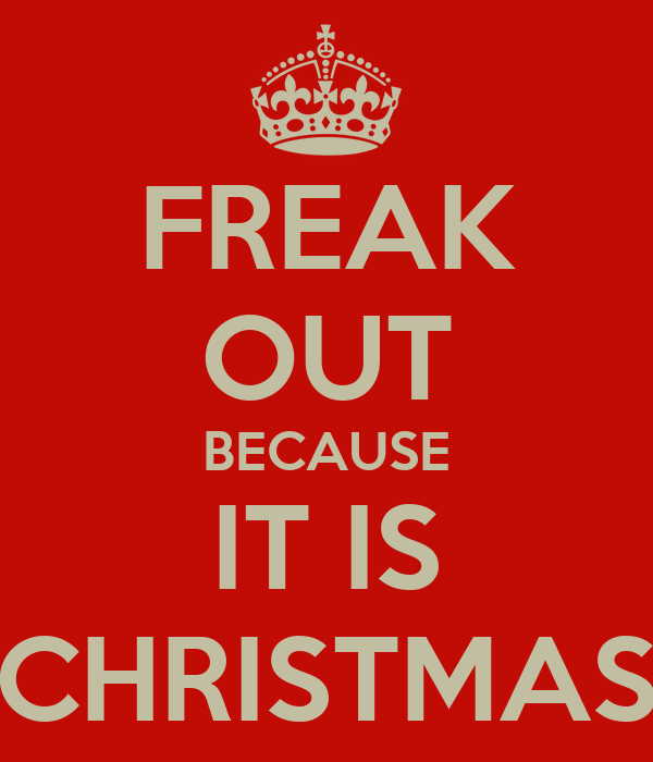 FREAK OUT BECAUSE IT IS CHRISTMAS