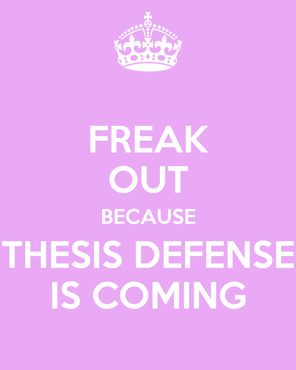 Thesis defense announcement poster