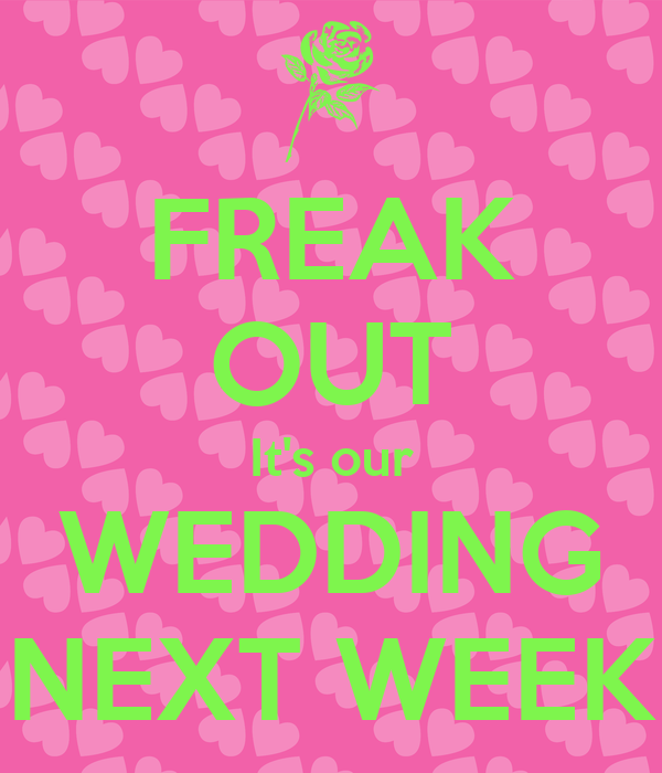 FREAK OUT It's our WEDDING NEXT WEEK