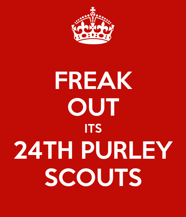 FREAK OUT ITS 24TH PURLEY SCOUTS